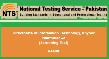 NTS Test Result Directorate of Information Technology (DIT) KPK