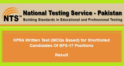 KPRA NTS Test Result Nov 18, 2017 Online