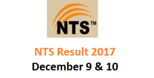 NTS Result 2017 Online - KP Food and TEVA Departments