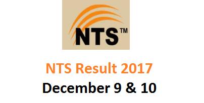 NTS Result Food Department KPK Dec 2017
