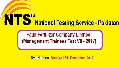 NTS FFC Result Management Trainee Test VII 2017