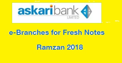 Askari Bank e-Branches for Fresh Notes Issuance in Ramzan 2018/1439