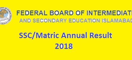 SSC Result 2018 – FBISE Islamabad Announced Expected Date
