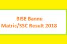 Bannu Board SSC/Matric Exam Result 2018 Online Class IX, X