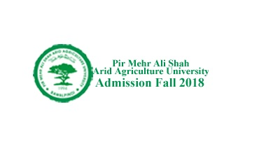 Arid Agriculture University - Pir Mehr Ali Shah Rawalpindi admission Fall 2018 - BS, MSC MA MS MPhil PhD Merit List and Entry Test Result