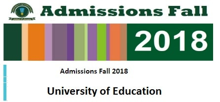 University of Education - Admission Schedule Fall 2018 - BS MA MSc MS M Phil PhD Online Apply