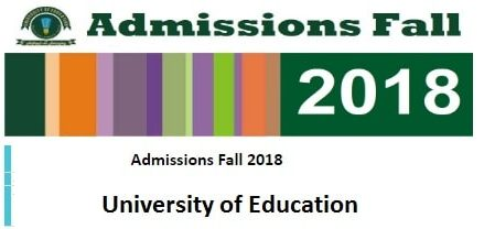 Education University Admissions Schedule Fall 2018 – BS/MA/MSc/MS/MPhil/MBA/PhD