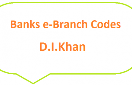 DI Khan Banks E-Branches List Eid ul Fitr 2019 – Fresh Currency Notes – SBP 8877 SMS Service