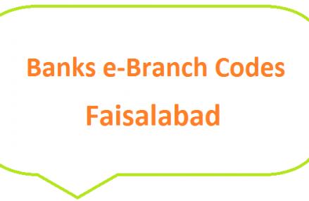 Faisalabad Banks e-Branch Codes Jaranwala, Dijkot, Samundari MCB NBP HBL Fresh Notes 2019 on Eid ul Fitr 1440