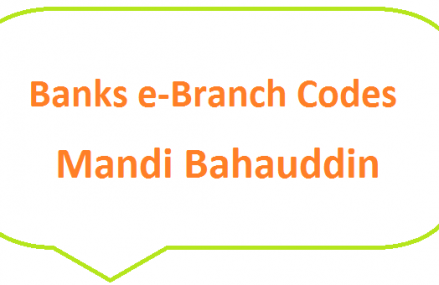 Mandi Bahauddin Banks e-Branch Codes Phalia, Malakwal MCB NBP HBL Fresh Notes 2019 on Eid ul Fitr 1440 SBP 8877 Service