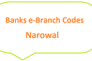 Narowal e-Branch Codes Zafarwal, Shakagarh MCB NBP HBL Fresh Notes 2019 on Eid ul Fitr 1440 SBP 8877 Service