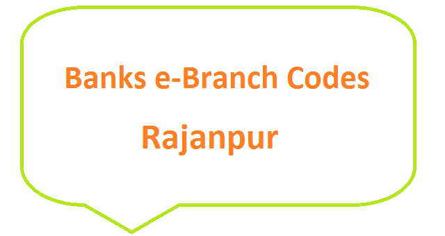 Rajanpur e-Branch Codes Fazilpur, Kot Mithan, Jampur, Rojhan MCB NBP HBL Fresh Notes 2019 on Eid ul Fitr 1440 SBP 8877 Service