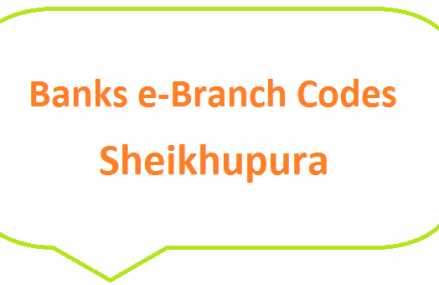Sheikhupura Banks e-Branch Codes Mananwala, Sangla Hill, Narang Mandi MCB NBP HBL Fresh Notes 2019 on Eid ul Fitr 1440 SBP 8877 Service